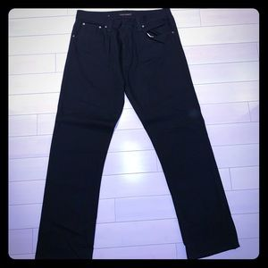 Nudie Jeans co straight leg black jeans.